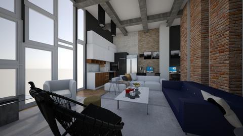 NYC Penthouse loft  - Modern - Living room  - by LILYBLANCHARD
