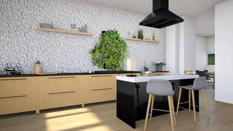 Modern Country Kitchen - Modern - Kitchen  - by Isaacarchitect