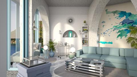 Modern Greek living - Living room  - by ginamelia22