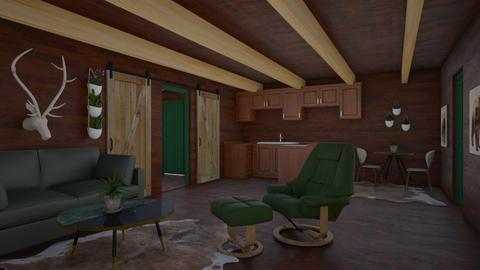 Lil Cabin - Rustic - Living room  - by millerfam
