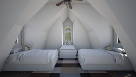 Simple Attic Room - Bedroom  - by SammyJPili