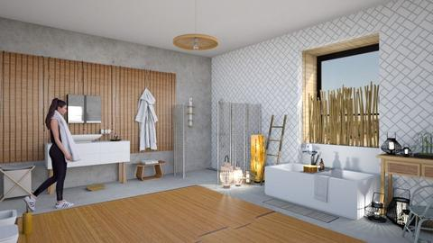 bamboo focus - Modern - Bathroom  - by kitty