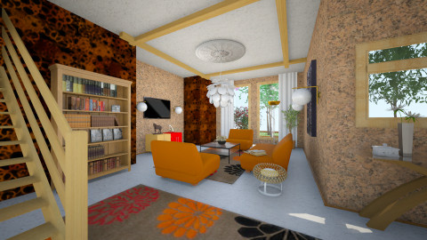 ROB - Retro - Living room  - by Saj Trinaest