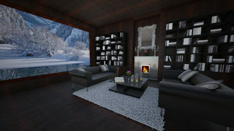 Winter  - Living room - by xyxz
