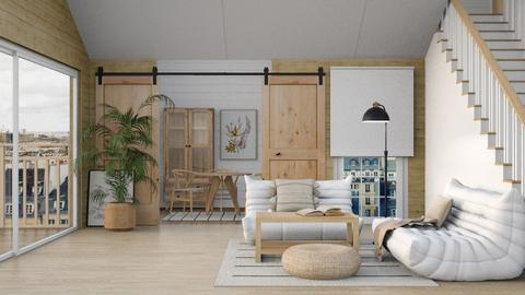 warm wood living - Living room  - by Victoria_happy2021