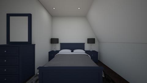 attic bedroom - Minimal - Bedroom  - by cowplant_4life
