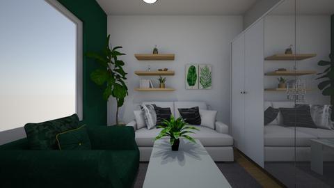 bodzioooo - Living room - by Pamela Luna Wojciukiewicz