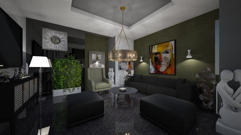 Living _Room_As _A _Small _Art _Gallery - Modern - Living room  - by Nikos Tsokos