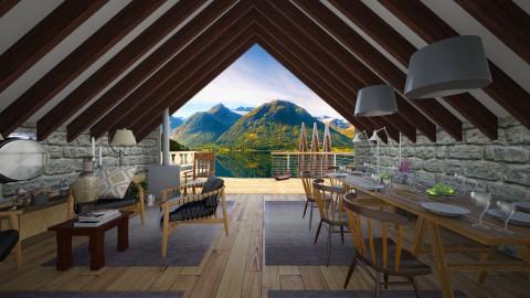 restored little barn - Rustic - Living room  - by Evangeline_The_Unicorn