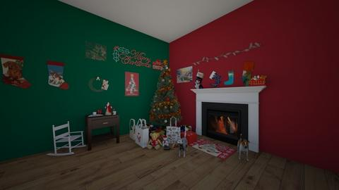 Christmas Room Contest - Country - Living room  - by waffledoghaha