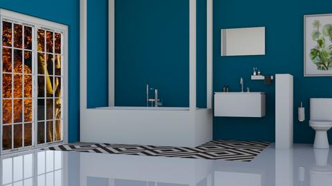 Contest 4_ blue bathroom - Bathroom  - by Tanem Kutlu