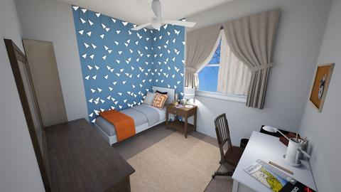 Warm Teen Bedroom - Eclectic - Bedroom  - by rlav2