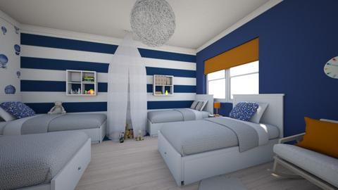 Modern country house7 - Kids room  - by AleksandraZaworska98