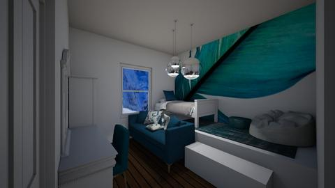 Teal Bedroom - Bedroom  - by Riordan Simpson