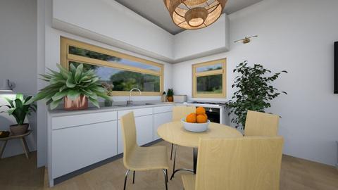 kitchen and dining room - Minimal - Kitchen  - by Annika2005xx
