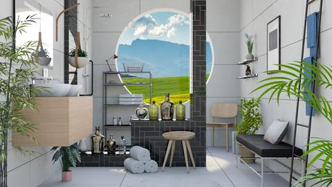 Shower With a View - Modern - Bathroom  - by millerfam