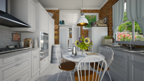 Summer kitchen - Rustic - Kitchen  - by Leyvna