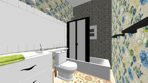 cobalt brreally - Eclectic - Bathroom  - by Elizabeth Lincoln