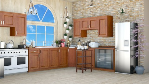 Kitchen 6 - Rustic - Kitchen  - by Mrs  Asrar