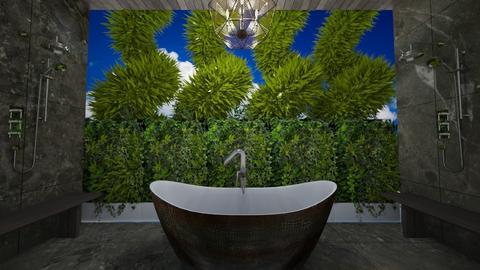 Urban Jungle Bathroom - Bathroom - by nicquo40