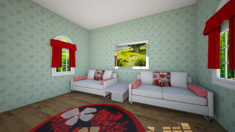 spring sitting  room - Living room - by lolololopink