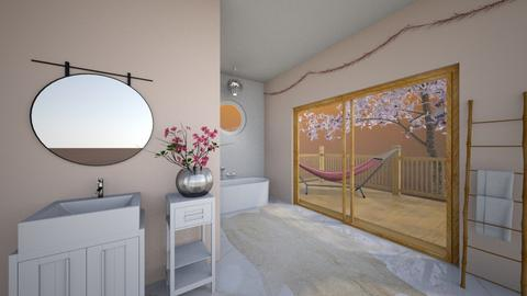Cherry Blossom Bathroom - Bathroom  - by Megan Eng