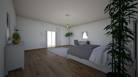 Modern White Bedroom - Bedroom - by HannahDesgins