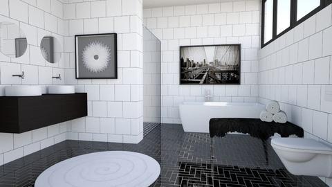BW Tile - Modern - Bathroom  - by millerfam