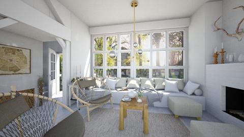 The ranch next door - Vintage - Living room - by Leyvna