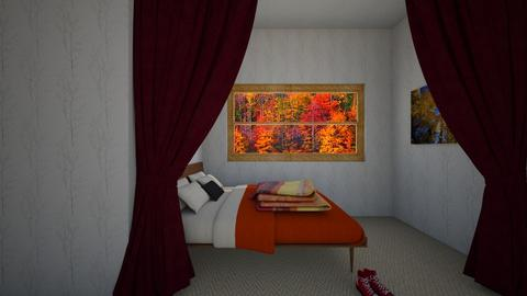 fall bedroom corner - by Chardesigner