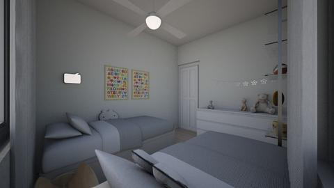 Yael bedroom 3 - Kids room - by erlichroni