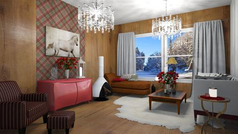 CRISTMAS - Country - Living room  - by rechnaya
