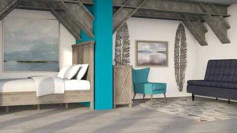 Rustic Teal - Rustic - Bedroom  - by millerfam