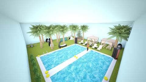 Pool - Glamour - Garden - by Ndia Cristina Johnson