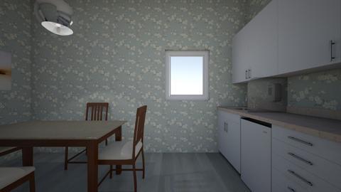 soviet trio kitchen - Classic - Kitchen  - by pie_wastaken