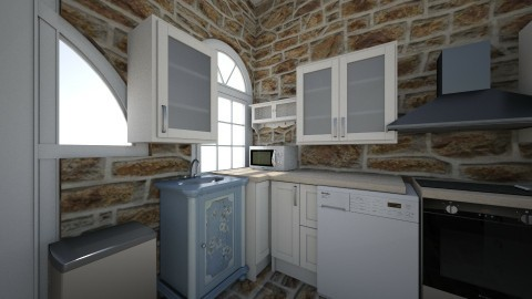 Kitchen Small - Country - Kitchen  - by Lydiabc1