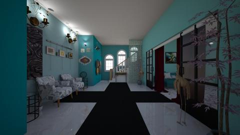 Turqoise and Metal Hall - Modern - by Ravina_9069