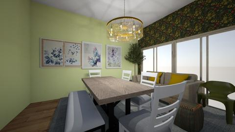 olive dining room - Dining room  - by kiwimelon711