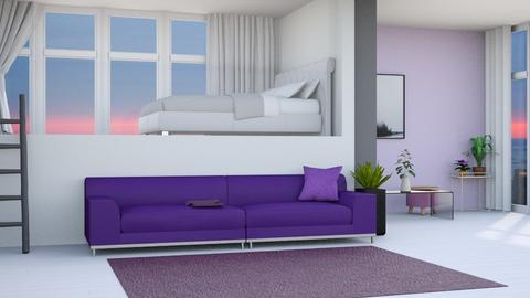 Lavender - Minimal - Living room  - by kaede11