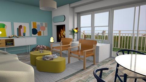 Inky pool - Living room  - by augustmoon