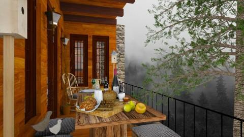 Design 142 Small Balcony Misty Woods - Garden  - by Daisy320