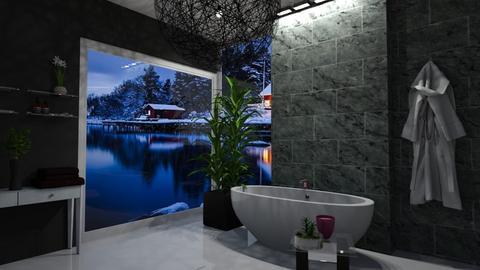 black bath - Bathroom  - by vallequeen