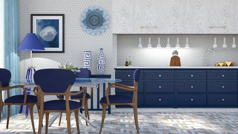 M_ Blue  - Kitchen  - by milyca8