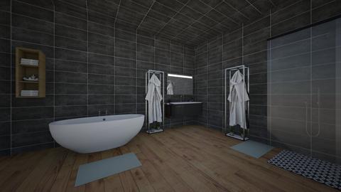 black and white bathroom - Modern - Bathroom  - by zottekokodesigner