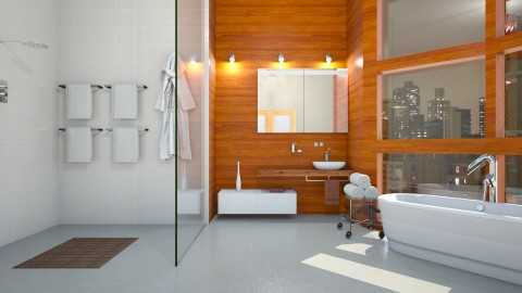 Bain - Modern - Bathroom  - by yonvie