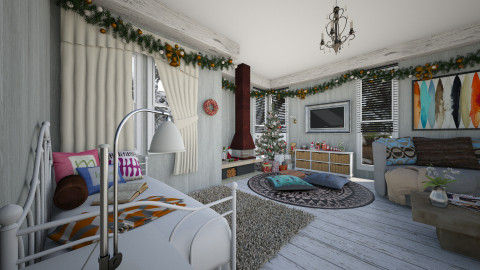 white holiday - Rustic - Living room  - by Veny Mully