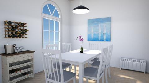Scandinavian Dining Room - Minimal - Dining room  - by Kopiman