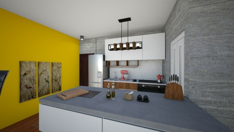 Apto 1 - Minimal - Kitchen  - by Elison Garcia Acosta