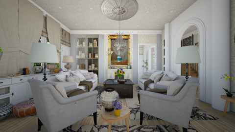 colonial - Classic - Living room  - by Evangeline_The_Unicorn