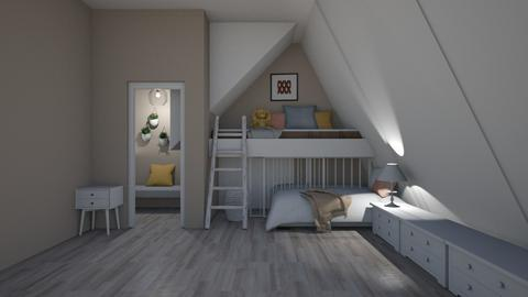 attic - Modern - Bedroom  - by matildabeast